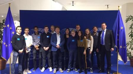 Leerlingen Rodenborch op bezoek bij het Europees Parlament