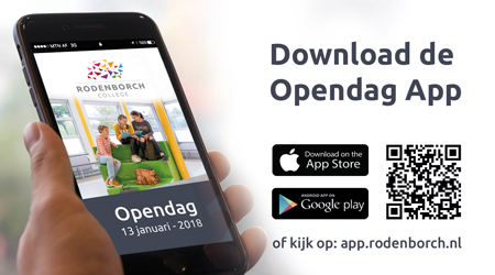 Download de app voor de Open Dag