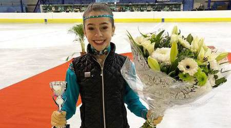 Kunstschaatster Lois Marly Libregts 3e in de internationale Ice Talent Trophy