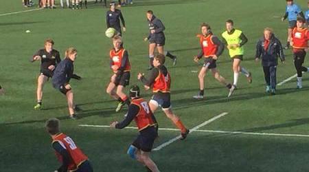 RAZ traint gezamenlijk met alle Rugby Academy's