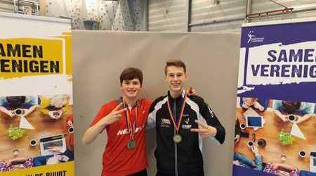 Badmintonspelers Steven Otto en Finn Lavalette succesvol